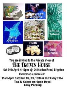 Trojan House flyer